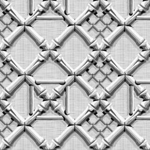 Royal Pavilion Trellis ~ Grey Linen Luxe
