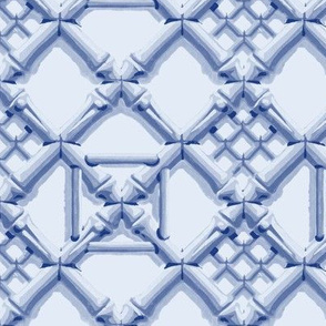 Royal Pavilion Trellis ~ Willow Ware Blue and Bowie
