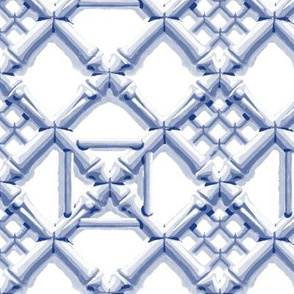 Royal Pavilion Trellis ~ Willow Ware Blue and White