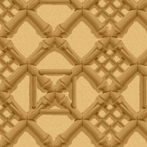 Royal Pavilion Trellis ~ Bamboo and Sand