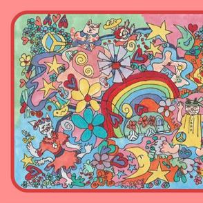 Happy Hippie Playmat