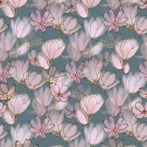 Pink Magnolia Moody Floral