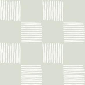 Neutral Zen Garden Checkboard / Large