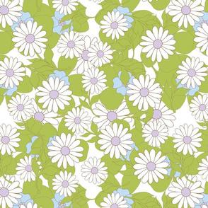 retro.flowers.green
