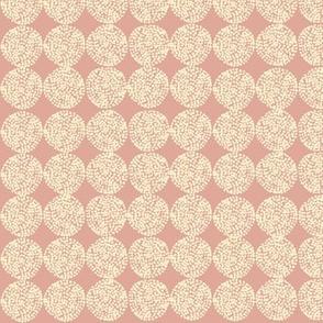 "Dandelions in Pink 1"" mini"