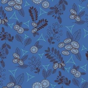 Geoflower Mono Blue