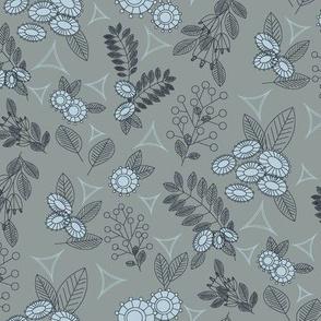Geoflower Mono Gray