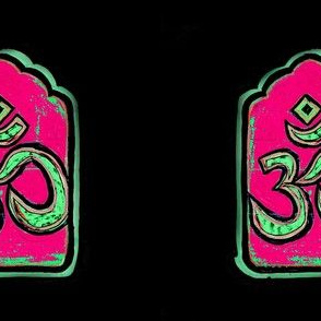 Om  Pink Repeat Textile Pattern