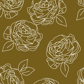 "Minimalist roses on ochre 18"""