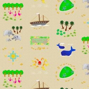 Island Playmat Motifs Repeat