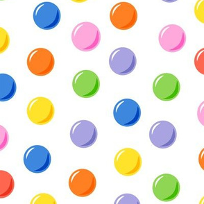 colorful circles on a white background