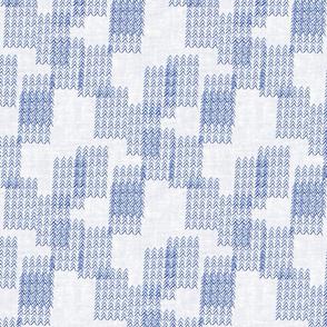 Blue Shibori  Arrows