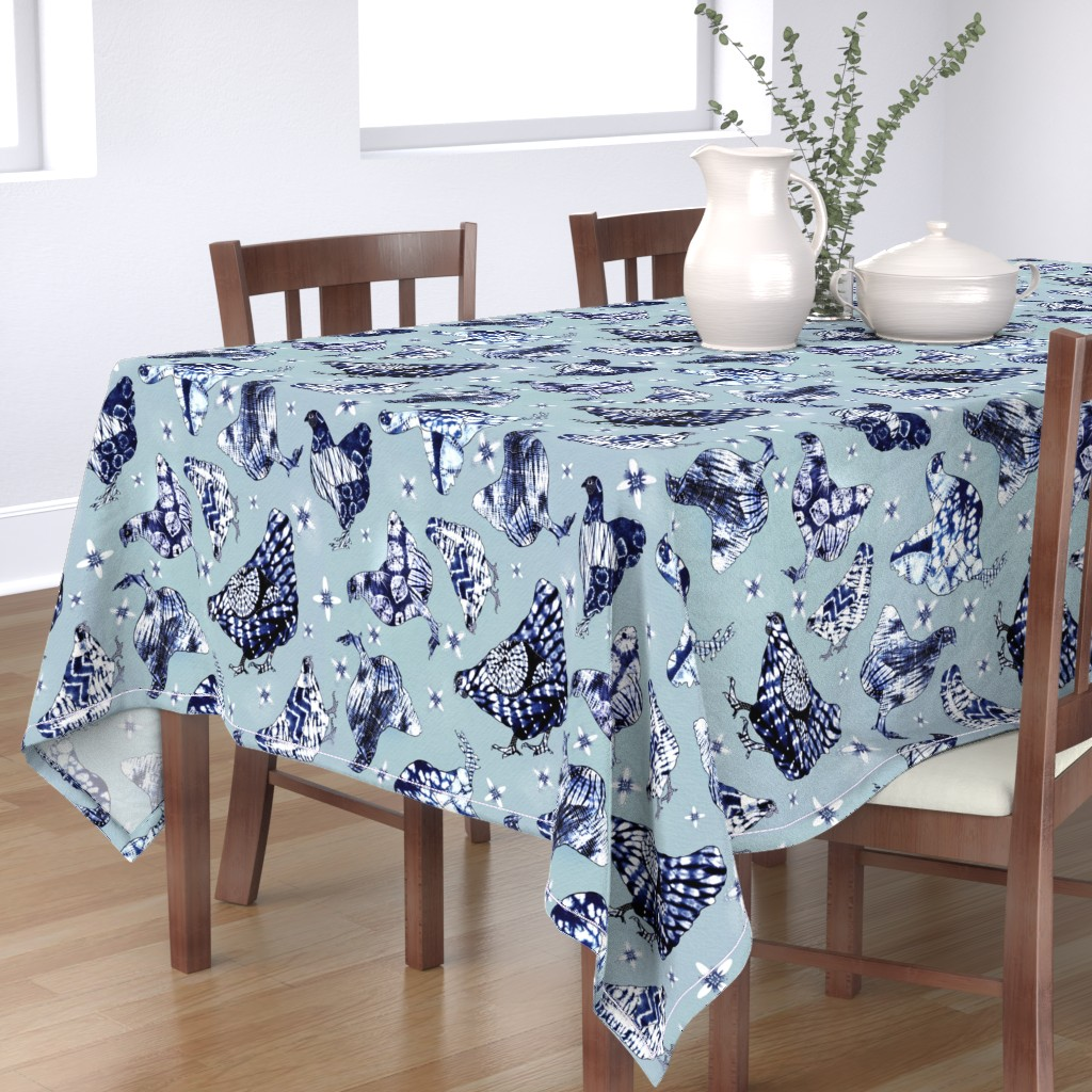 Bantam Rectangular Tablecloth featuring Yakei  Shibori by bound_textiles