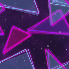 Neon triangles-Pink and blue