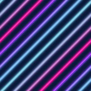 Neon diagonal stripe-Multicolour