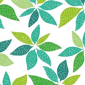 Blaetter-green
