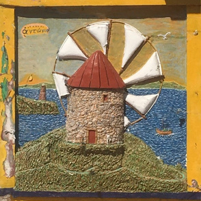 Windmill relief painting