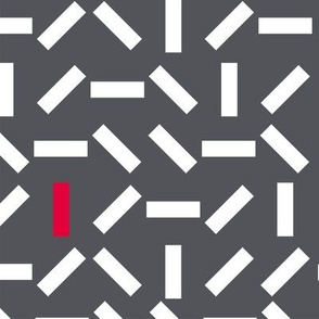 Abstract pattern - white and red lines on a grey background