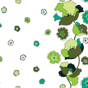 Kitchenette Flowers LG - Green with Envy