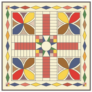 Mousehaus Parcheesi Game Board Mat