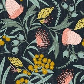 Flora Australis - Dark Floral Botanical Regular Scale