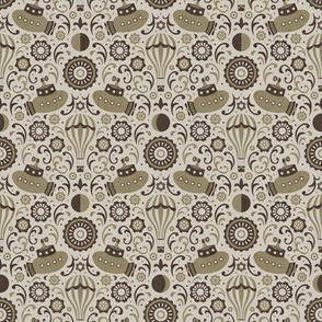 Steampunk Verne Damask (Small)