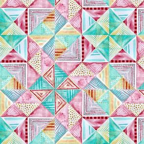 Watercolor pinwheel