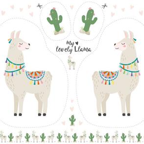 "little llama plushie pillow ""my lovely Llama"""
