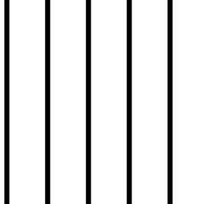 Stripe Black on White
