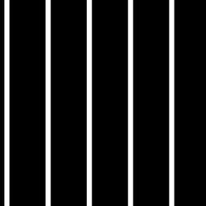 Stripe White on Black