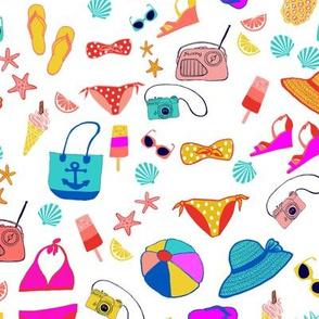 Sunshine Retro bikini // Itsy Bitsy Teenie Weenie Yellow Polka Dot Bikini // Happy Vibes Retro Beach (small)