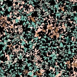 Nocturnal garden rose mint green bronze black