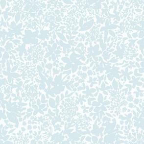 Garden - soft neutral blooms light gray blue