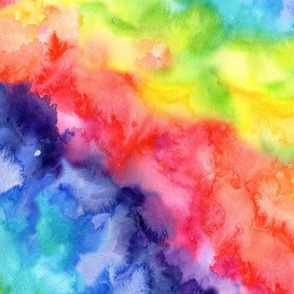 Rainbow watercolour wash #8