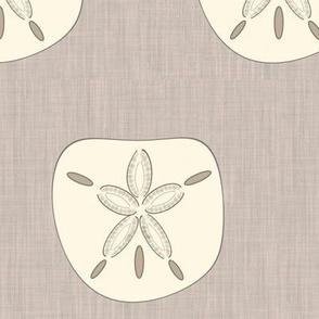 Ivory Sand Dollars on Linen