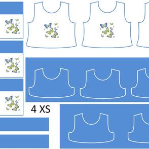 Size 4-BLUE BUTTERFLIES DRESS & TANK