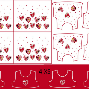 Size 4-RED HEARTS  DRESS & TANK