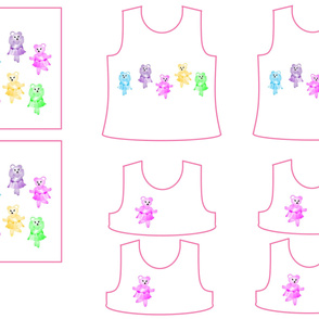 Size 5-BALLERINA BEARS  DRESS & TANK