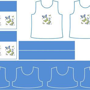 Size 5-BLUE BUTTERFLIES DRESS & TANK