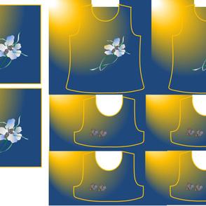 Size 5-FLOWER BIRDS  DRESS & TANK