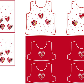Size 5-RED HEARTS  DRESS & TANK