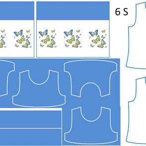 Size 6-BLUE BUTTERFLIES DRESS & TANK