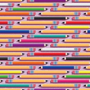 Colorful School Pencils, Horizontal by ArtfulFreddy