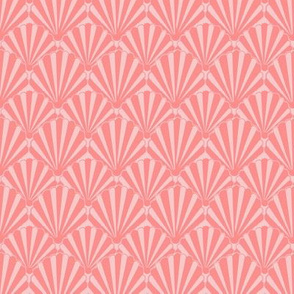 Coral shell, Art deco fan, scallop