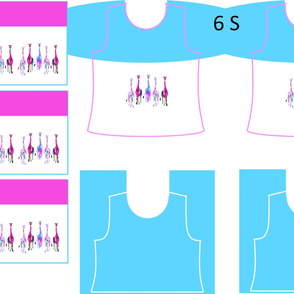 Size 6-GENTLE GIRAFFES  DRESS & TANK