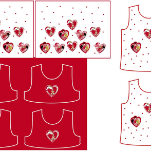 Size 6-RED HEARTS  DRESS & TANK