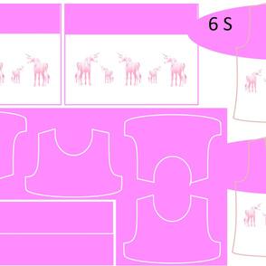 Size 6-PINK UNICORN DRESS & TANK