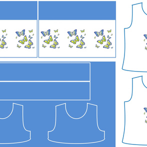 Size 7-BLUE BUTTERFLIES DRESS & TANK