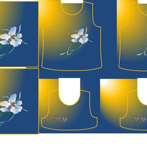 Size 7-FLOWER BIRDS  DRESS & TANK