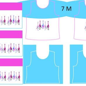 Size 7-GENTLE GIRAFFES  DRESS & TANK